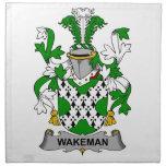 Escudo de la familia de Wakeman Servilleta De Papel