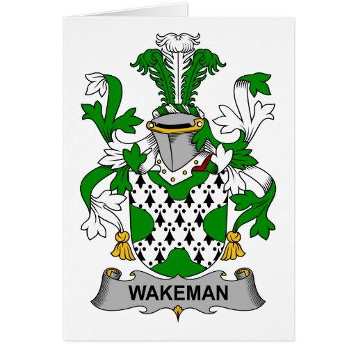 Escudo de la familia de Wakeman Tarjeton