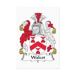 Escudo de la familia de Walcot Impresiones En Lona Estiradas