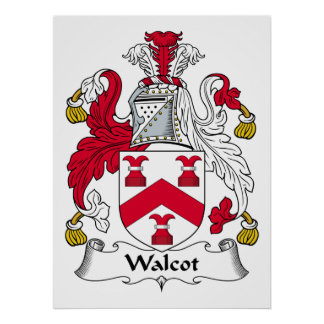 Escudo de la familia de Walcot Posters