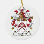 Escudo de la familia de Waldeck Ornamento Para Arbol De Navidad