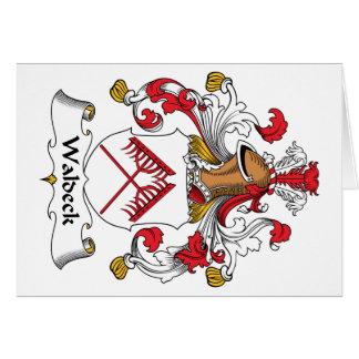Escudo de la familia de Waldeck Felicitación