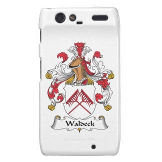 Escudo de la familia de Waldeck Motorola Droid RAZR Funda