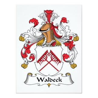 Escudo de la familia de Waldeck Invitación 16,5 X 22,2 Cm