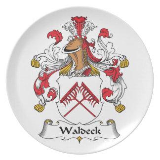 Escudo de la familia de Waldeck Platos De Comidas