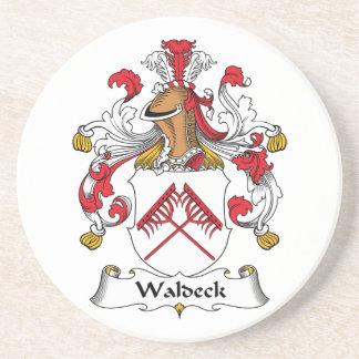 Escudo de la familia de Waldeck Posavasos Personalizados