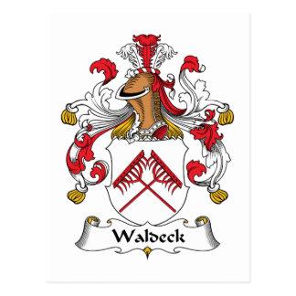 Escudo de la familia de Waldeck Postal