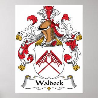 Escudo de la familia de Waldeck Posters