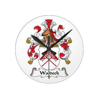 Escudo de la familia de Waldeck Relojes De Pared