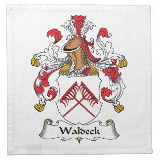 Escudo de la familia de Waldeck Servilleta De Papel