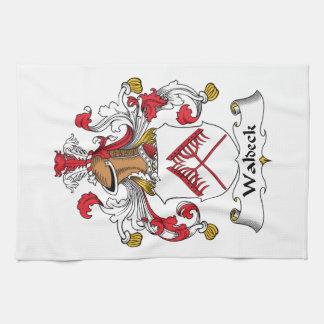 Escudo de la familia de Waldeck Toallas De Cocina
