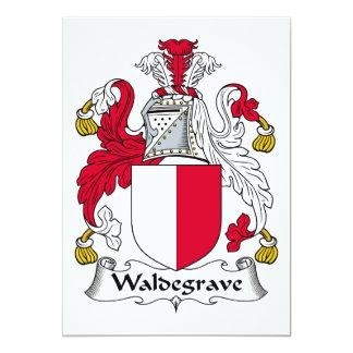 """Escudo de la familia de Waldegrave Invitación 5"""" X 7"""""""