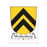 Escudo de la familia de Waldenberg Lona Estirada Galerías