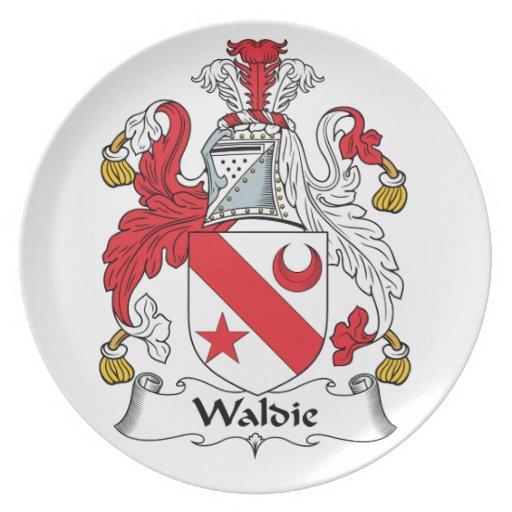 Escudo de la familia de Waldie Platos