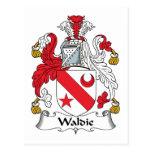 Escudo de la familia de Waldie Postal