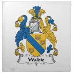 Escudo de la familia de Waldie Servilletas