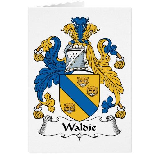 Escudo de la familia de Waldie Tarjetón