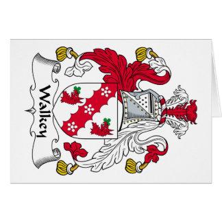 Escudo de la familia de Walkey Tarjeta De Felicitación