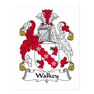 Escudo de la familia de Walkey Tarjetas Postales