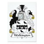 Escudo de la familia de Walkington Invitación 12,7 X 17,8 Cm