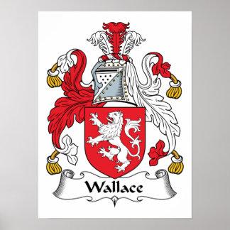 Escudo de la familia de Wallace Póster