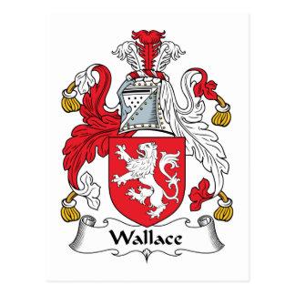 Escudo de la familia de Wallace Tarjetas Postales