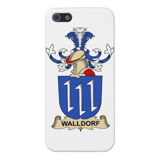 Escudo de la familia de Walldorf iPhone 5 Carcasas