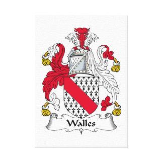Escudo de la familia de Walles Lona Envuelta Para Galerías