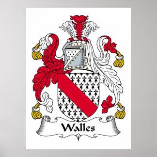 Escudo de la familia de Walles Poster