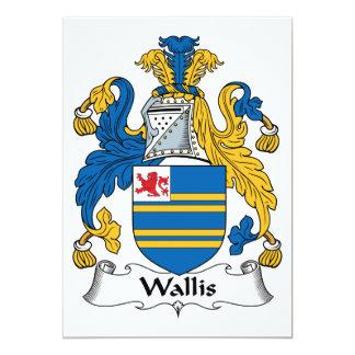 """Escudo de la familia de Wallis Invitación 5"""" X 7"""""""