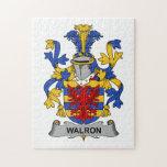 Escudo de la familia de Walron Rompecabeza Con Fotos