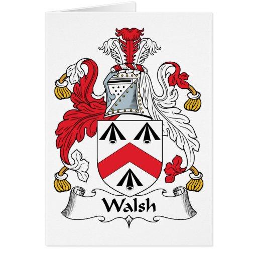 Escudo de la familia de Walsh Felicitaciones