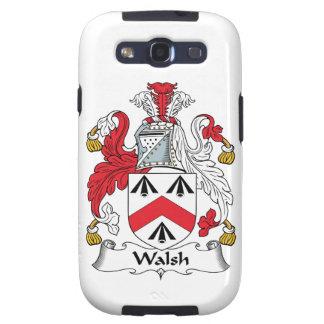 Escudo de la familia de Walsh Galaxy SIII Protectores