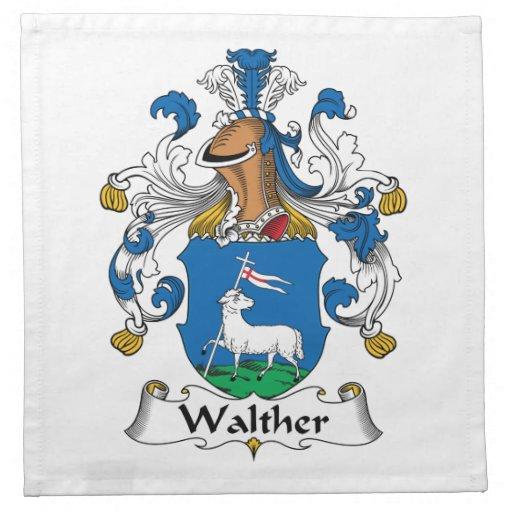 Escudo de la familia de Walther Servilletas Imprimidas