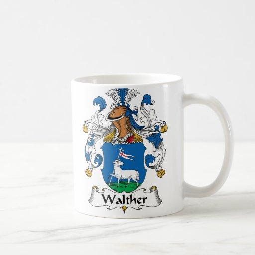Escudo de la familia de Walther Tazas De Café
