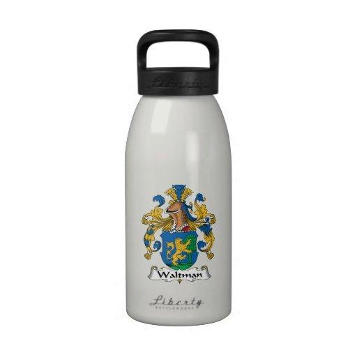 Escudo de la familia de Waltman Botellas De Beber