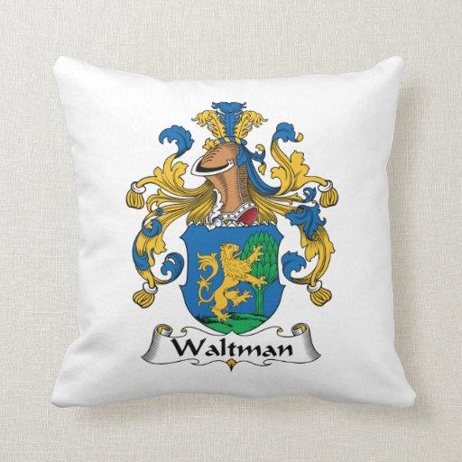 Escudo de la familia de Waltman Almohadas