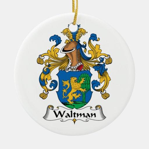 Escudo de la familia de Waltman Ornamento Para Reyes Magos