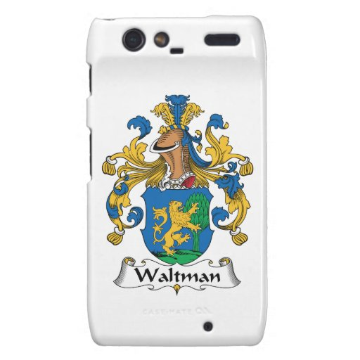 Escudo de la familia de Waltman Droid RAZR Fundas