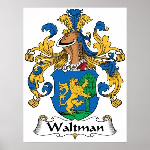 Escudo de la familia de Waltman Impresiones