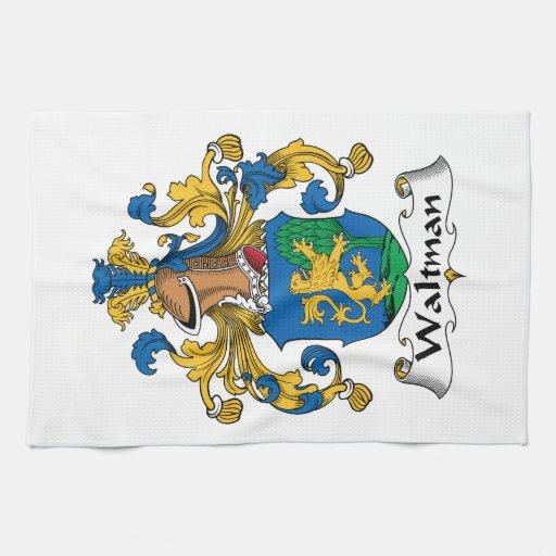 Escudo de la familia de Waltman Toallas De Mano