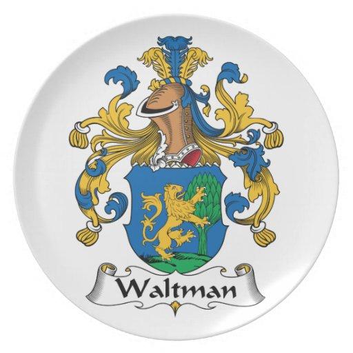 Escudo de la familia de Waltman Plato De Cena