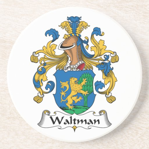 Escudo de la familia de Waltman Posavasos Cerveza