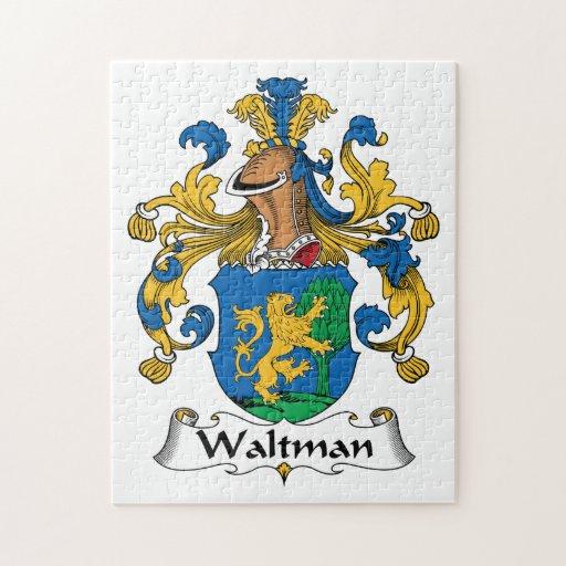 Escudo de la familia de Waltman Rompecabezas Con Fotos