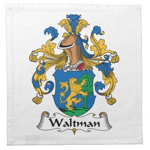 Escudo de la familia de Waltman Servilletas Imprimidas
