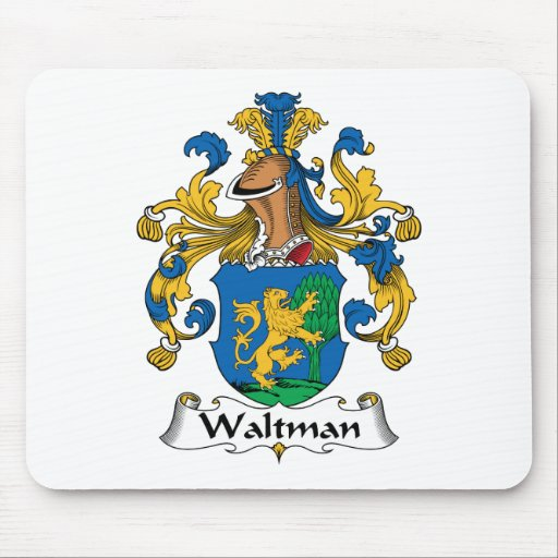 Escudo de la familia de Waltman Alfombrillas De Raton