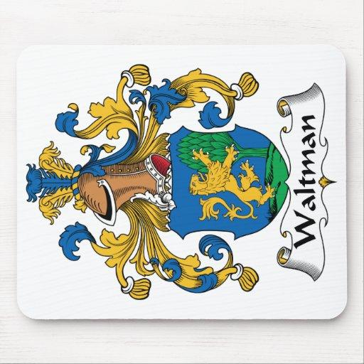 Escudo de la familia de Waltman Tapetes De Raton