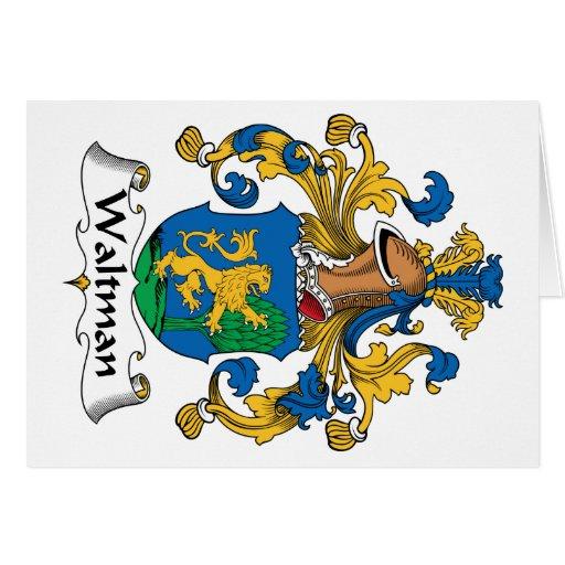 Escudo de la familia de Waltman Tarjeta