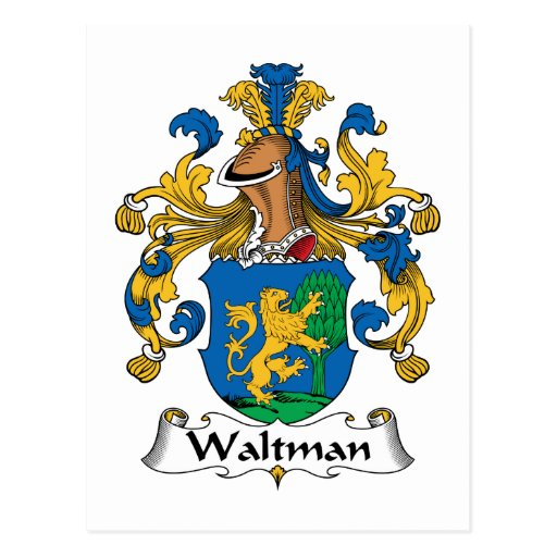 Escudo de la familia de Waltman Postal
