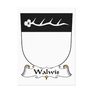 Escudo de la familia de Walwis Lona Estirada Galerías